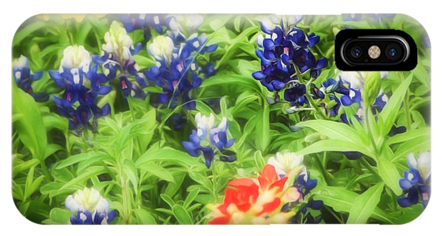 Bluebonnets IPhone X Case featuring the photograph Bluebonnet Bouquet by TK Goforth