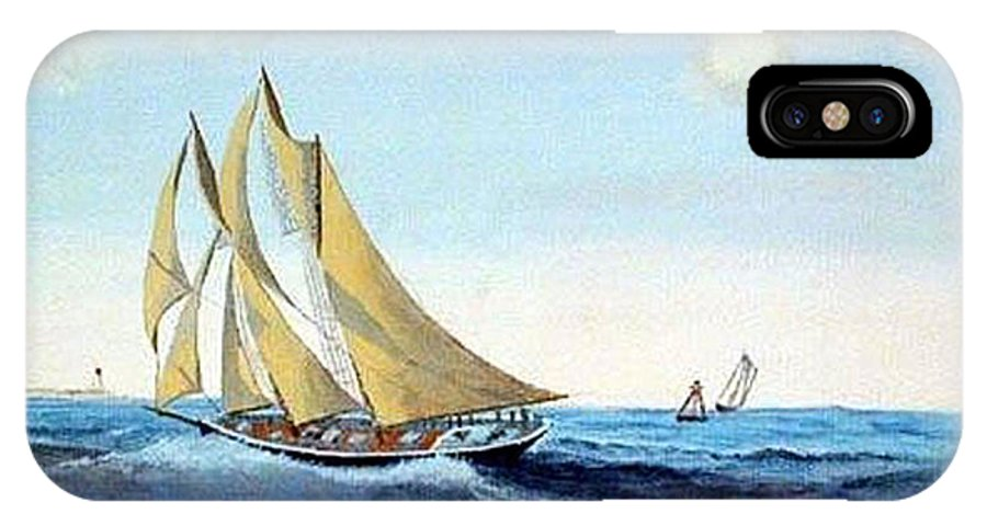 Bluenose IPhone X Case featuring the painting Bluenose by Richard Le Page