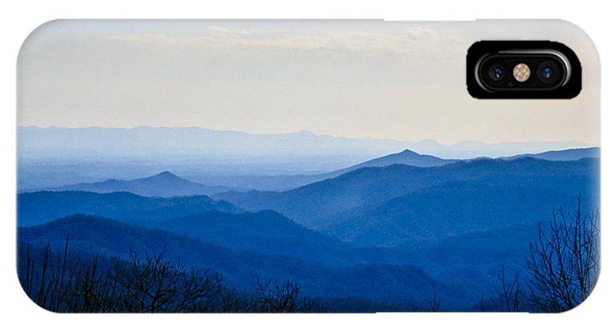 Landscape IPhone X Case featuring the photograph Blueridge by Ches Black