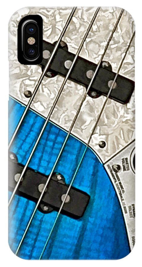 Guitar IPhone X Case featuring the photograph Blues Bass by William Jobes
