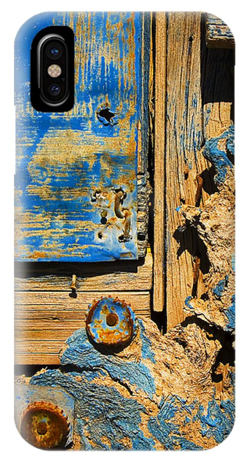 Abstract IPhone X Case featuring the photograph Blues Dues by Skip Hunt