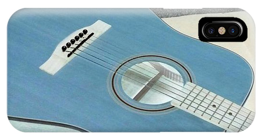 Acoustic Teton Guitar IPhone X Case featuring the photograph Blues Guitar by Peggy Leyva Conley
