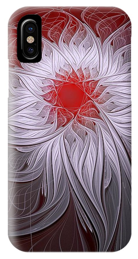 Digital Art IPhone Case featuring the digital art Blush by Amanda Moore