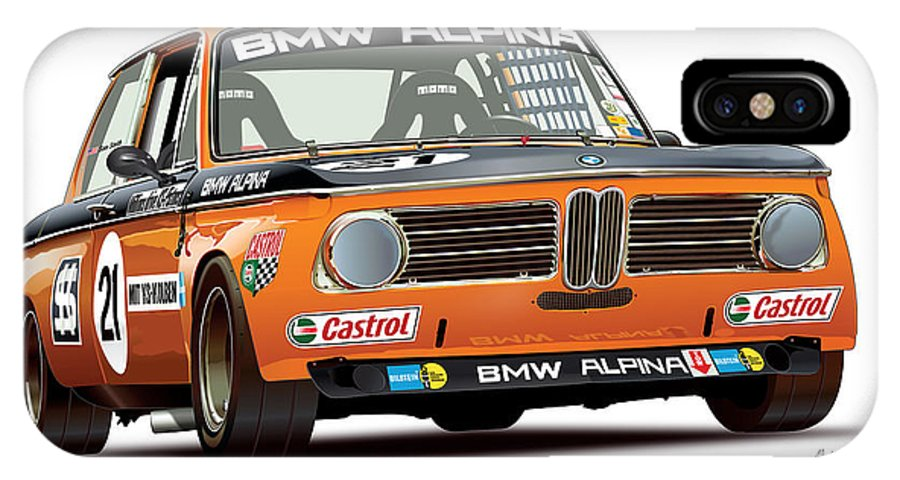 Bmw 2002 For Sale >> Bmw 2002 Alpina Illustration Iphone X Case For Sale By Alain Jamar