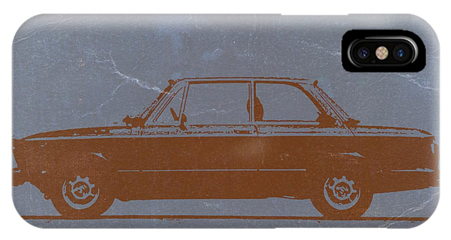 Bmw 2002 IPhone X Case featuring the photograph Bmw 2002 Orange by Naxart Studio