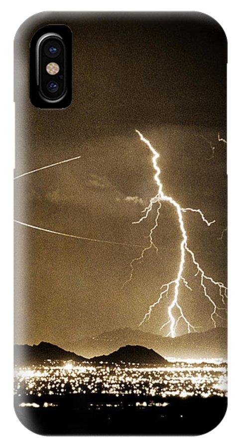 Lightning IPhone X Case featuring the photograph Bo Trek Lightning Art by James BO Insogna
