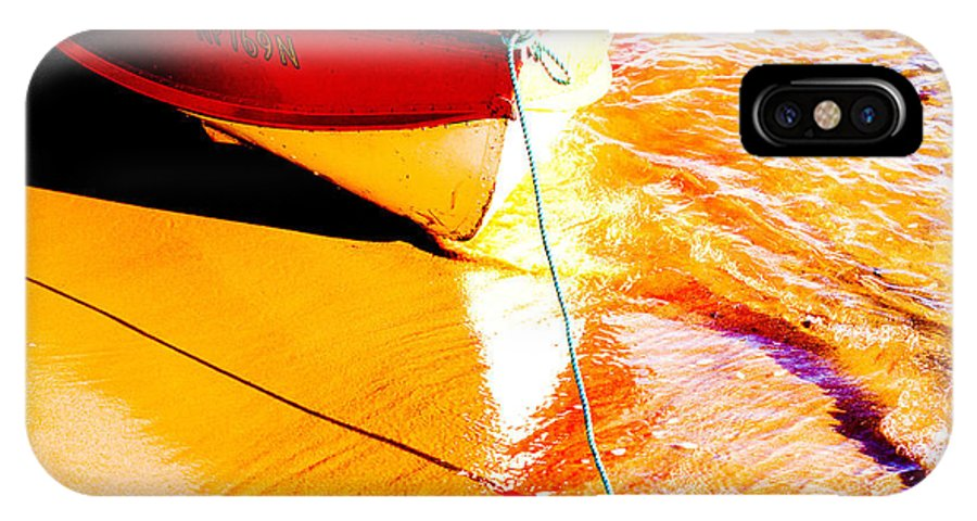 Boat Abstract Yellow Water Orange IPhone X Case featuring the photograph Boat abstract by Sheila Smart Fine Art Photography