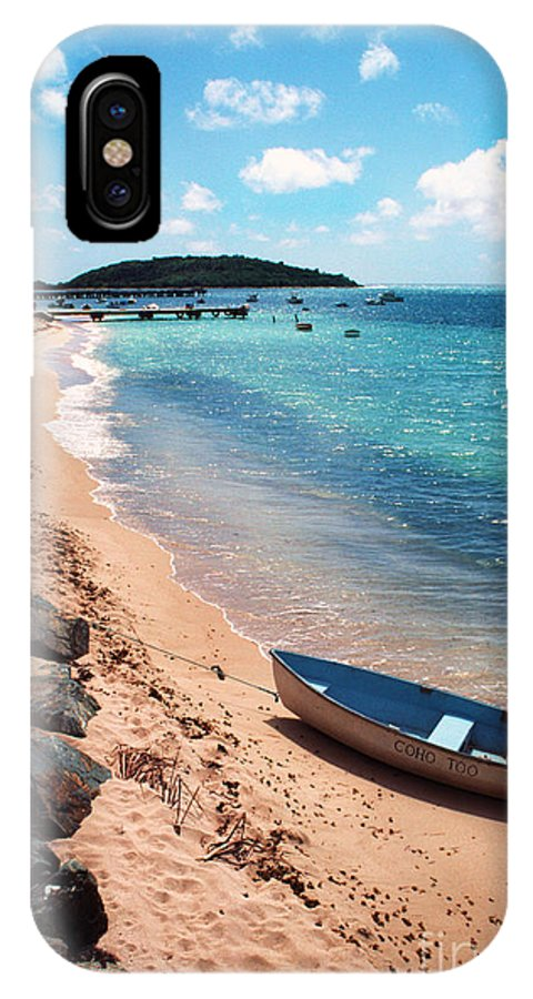 Beach IPhone X Case featuring the photograph Boat Beach Vieques by Thomas R Fletcher