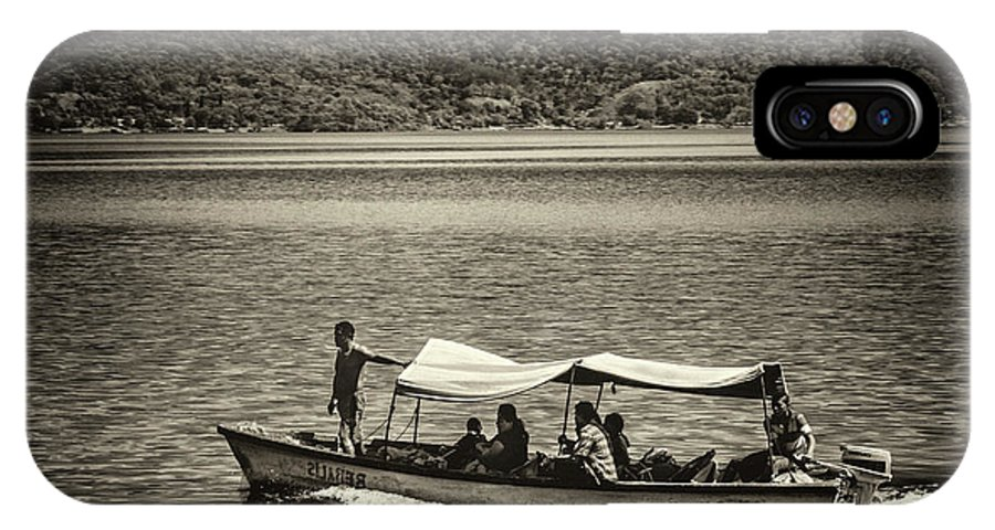 Ferry IPhone X Case featuring the photograph Boat - Lago De Coatepeque, El Salvador by Totto Ponce