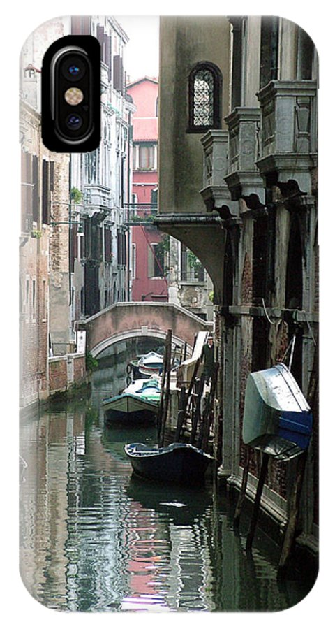Venice IPhone Case featuring the photograph Boat On The Wall by Donna Corless