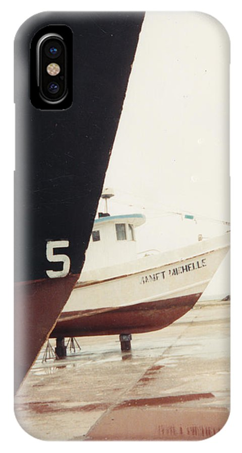 Boat Reflection IPhone X / XS Case featuring the photograph Boat Reflection And Angles by Cindy New