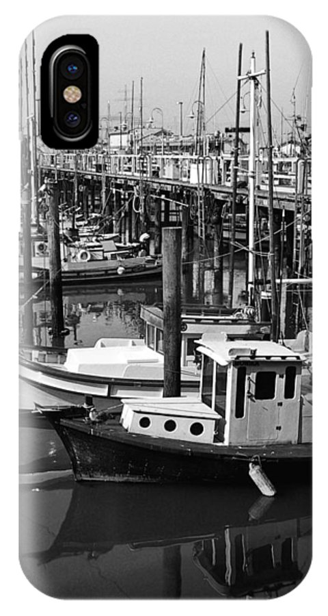 Boats IPhone X Case featuring the photograph Boat Reflections by Tom Reynen