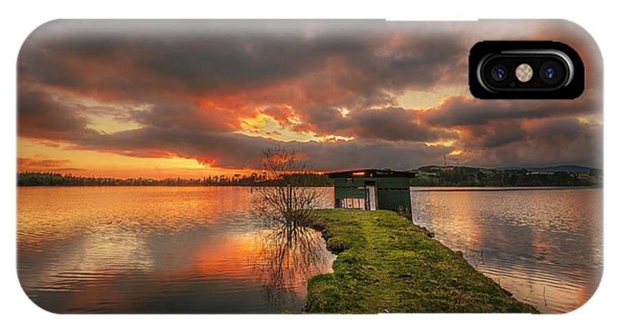 Boathouse IPhone X Case featuring the photograph Boathouse by Liam Mcclean