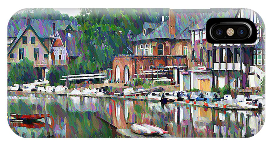 Boathouse IPhone X Case featuring the photograph Boathouse Row In Philadelphia by Bill Cannon