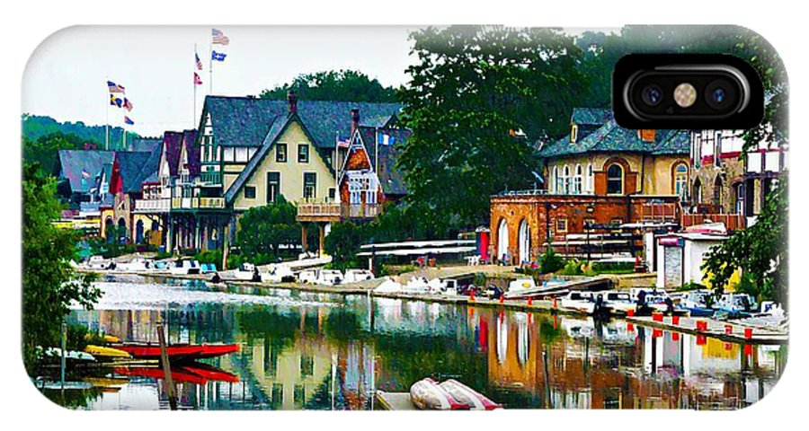 Boathouse Row In Philly IPhone X Case featuring the photograph Boathouse Row In Philly by Bill Cannon