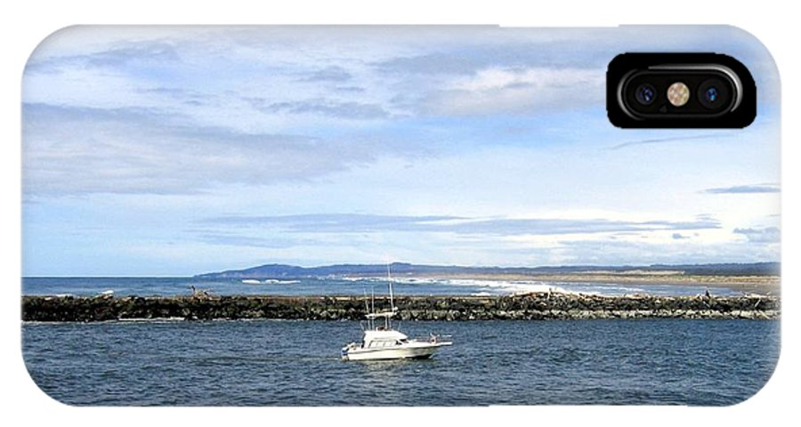 Boat IPhone X Case featuring the photograph Boating At Bandon by Will Borden