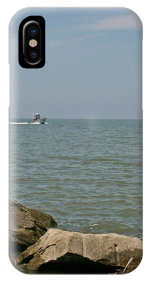 Boat IPhone X / XS Case featuring the photograph Boating Fun by Sara Raber