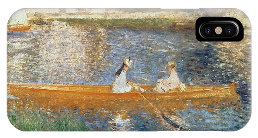 Boating On The Seine IPhone X Case featuring the painting Boating On The Seine by Pierre Auguste Renoir