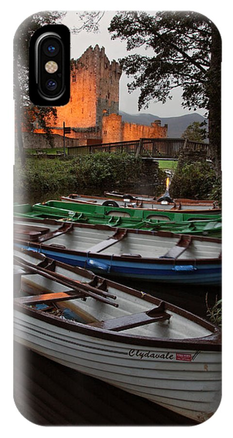 Ross Castle IPhone X Case featuring the photograph Boats At Ross Castle Killarney Ireland by Pierre Leclerc Photography