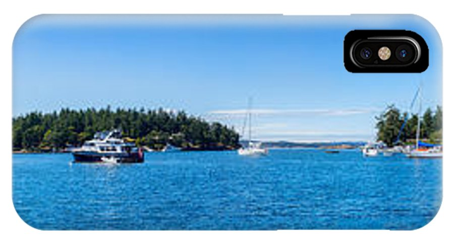 Boat IPhone X Case featuring the photograph Boats In Roche Harbor, San Juan Island by Miary Andria
