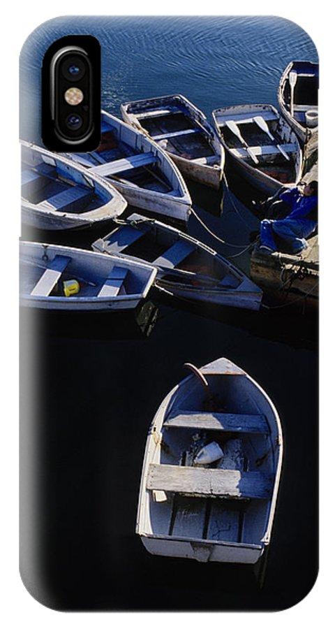 Boats IPhone Case featuring the photograph Boats Moored At Dock by Steve Somerville