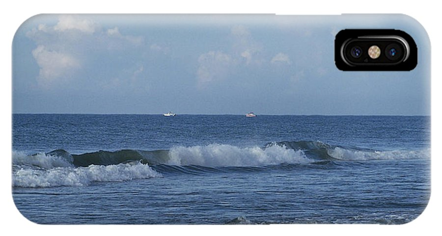 Ocean IPhone X Case featuring the photograph Boats On The Horizon by Teresa Mucha
