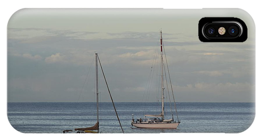 Boats IPhone X Case featuring the photograph Boats On The Water by Samantha Peel