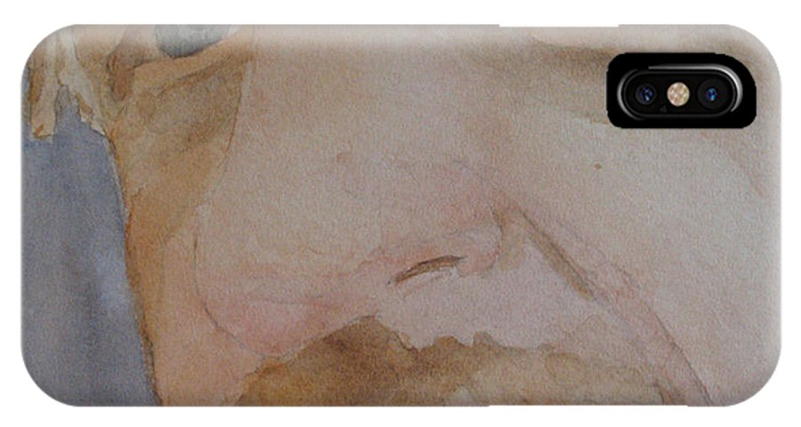 Portrait IPhone X Case featuring the painting Bob I by Jenny Armitage