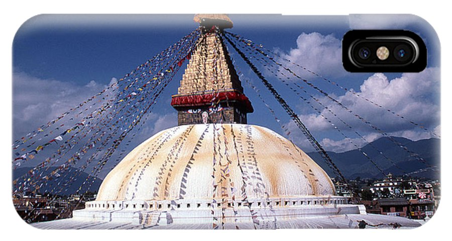 Bodhnath Stupa IPhone X Case featuring the photograph Bodhnath Stupa by Patrick Klauss