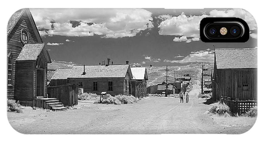 Ghost Town IPhone Case featuring the photograph Bodie A Ghost Town Infrared by Christine Till