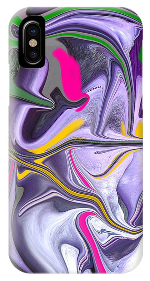 Abstract IPhone X Case featuring the photograph Body Language by Allan Hughes