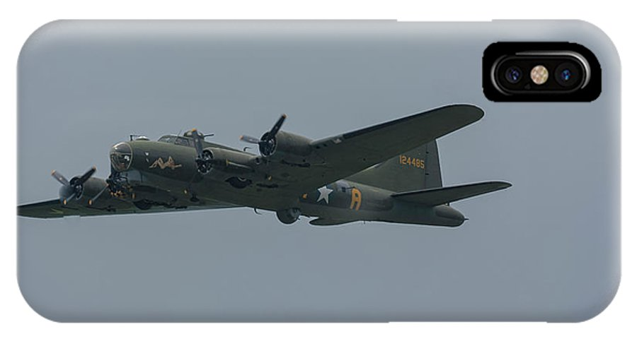 Boeing IPhone X Case featuring the photograph Boeing B-17 Flying Fortress by Philip Pound