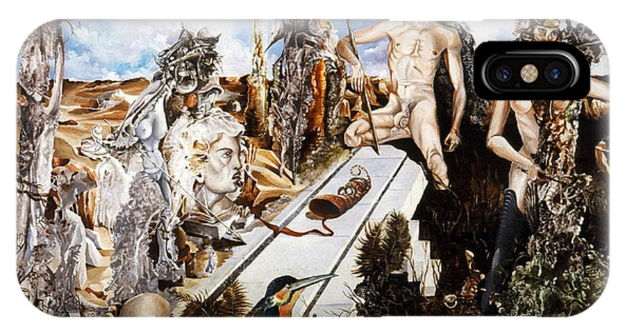 Surrealism IPhone Case featuring the painting Bogomils Court by Otto Rapp