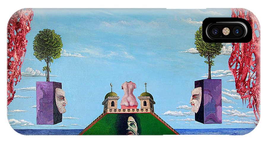 Painting IPhone Case featuring the painting Bogomils Monastic Retreat by Otto Rapp