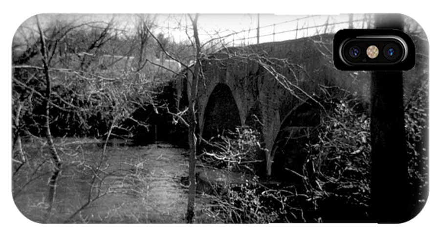 Photograph IPhone X Case featuring the photograph Boiling Springs Bridge by Jean Macaluso