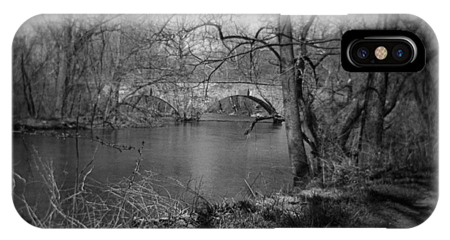 Photograph IPhone X Case featuring the photograph Boiling Springs Stone Bridge by Jean Macaluso