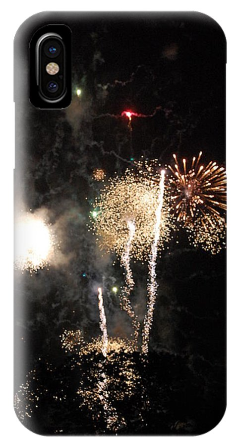 Firwworks IPhone X Case featuring the photograph Bombs1 by David Lane