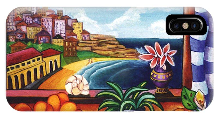 Beach IPhone X Case featuring the painting Bondi Beach by Jennifer England