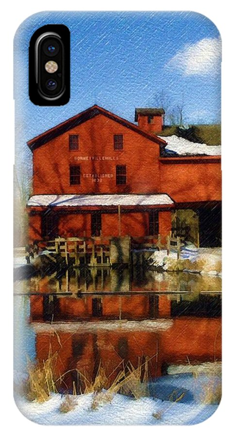 Bonneyville Mill IPhone Case featuring the photograph Bonneyville In Winter by Sandy MacGowan