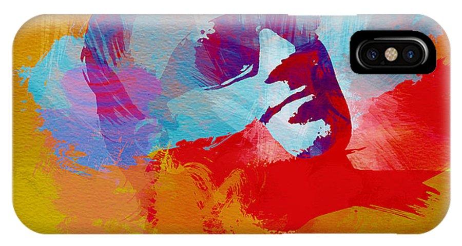 Bono IPhone X Case featuring the painting Bono U2 by Naxart Studio