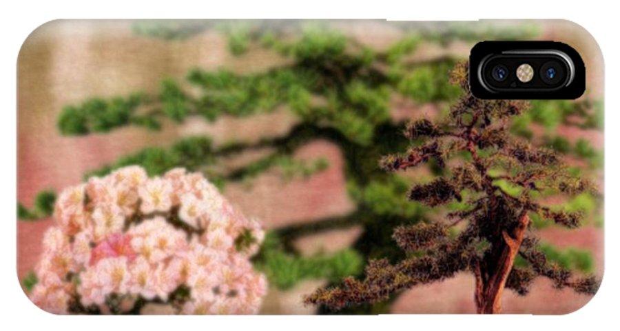 Tree IPhone X Case featuring the digital art Bonsai Garden by Jannina Ortiz