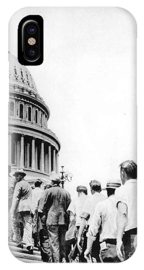 1932 IPhone X Case featuring the photograph Bonus Army Marchers, 1932 by Granger