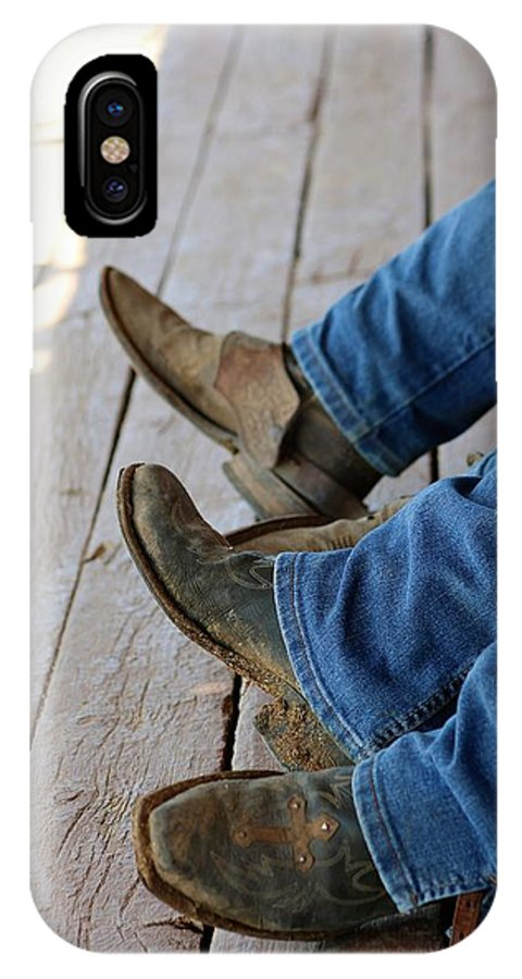 Cowboy IPhone X Case featuring the photograph Boots by Lisa Spero