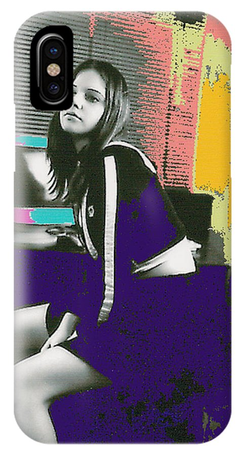 Young Girl IPhone X Case featuring the photograph Bored... by Bjorn Sjogren