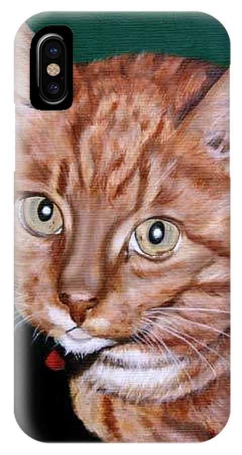 Pets IPhone X Case featuring the painting Boris by Rob De Vries