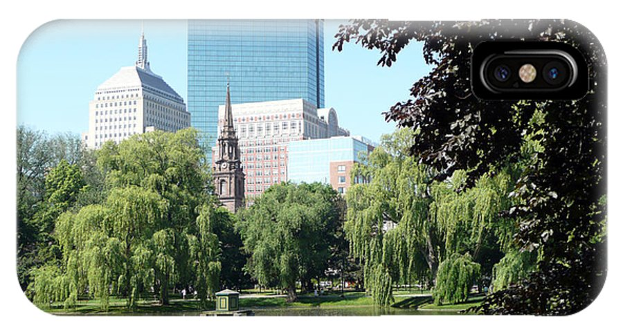 Garden IPhone X Case featuring the photograph Boston Public Garden by Kathy Schumann