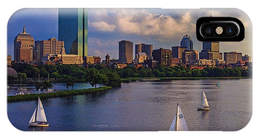 Longfellow Bridge IPhone X Case featuring the photograph Boston Skyline by Rick Berk