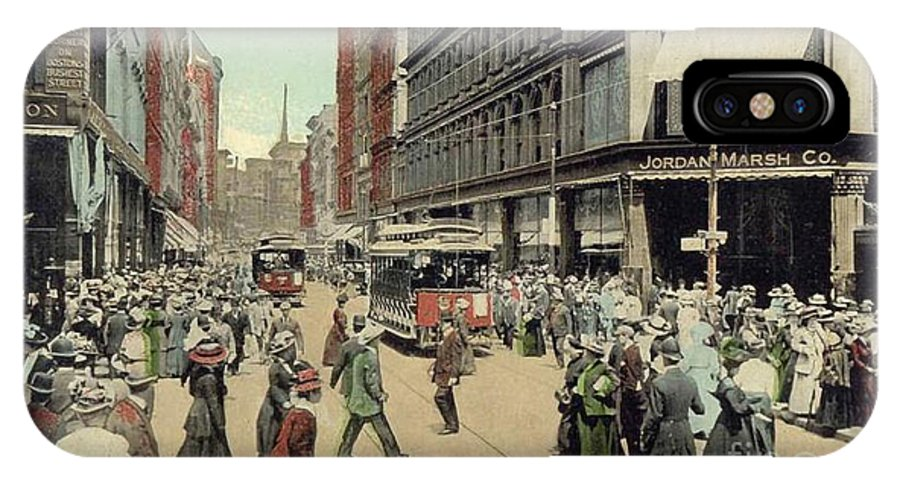 1910 IPhone X Case featuring the photograph Boston: Washington Street by Granger