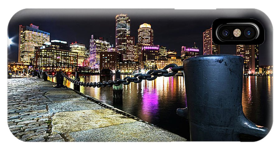 Boston IPhone X Case featuring the photograph Boston Waterfront Skyline View Boston Ma by Toby McGuire
