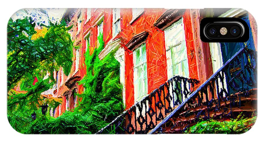 Greenwich Village IPhone X Case featuring the photograph Botanical Village Sketch by Randy Aveille